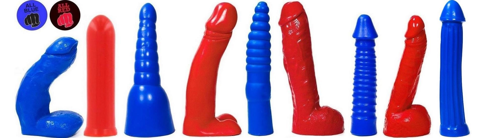 ALL RED & BLUE DILDOS